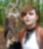 West Virginia Raptor Rehabilitation Center (WVRRC) photo shoot featuring a number of birds including this great horned owl