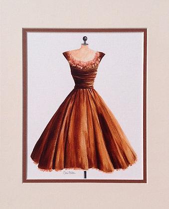 Vintage Chocolate Dress