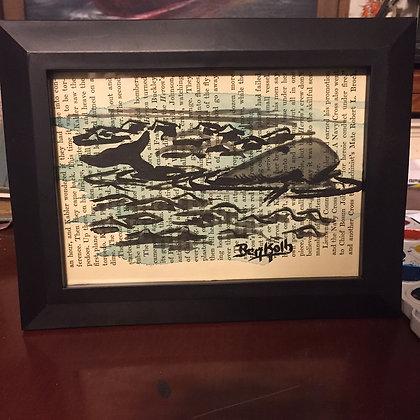 Scrimshaw Style Whale