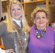 Melissa and Artist, Grazia Zalfa in her home studio location