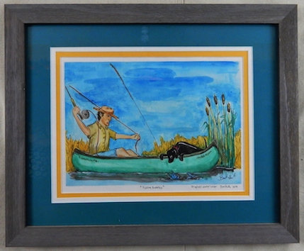Fishing Buddies (watercolor)