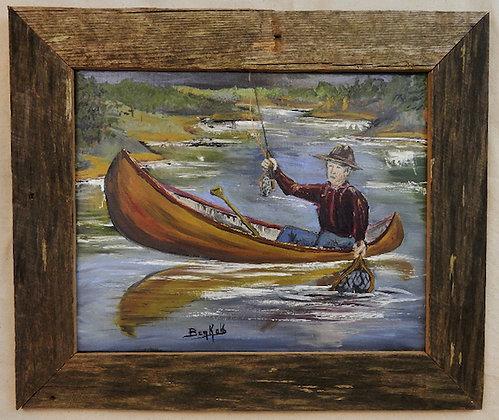 Landing one in a Canoe
