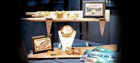 A variety of Ben Kolb items on display at his Wild at Art show