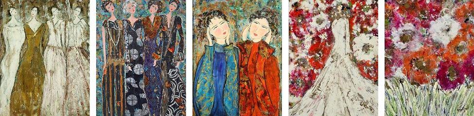 Sample Holly Markhoff original paintings