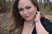 Product Model and Team Contributor, Rachel wearing Roxan Waluk jewelry in Delaplane, VA.