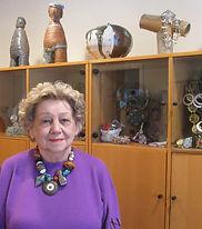 Published Jewelry Designer and Artist, Grazia Zalfa in her home studio location