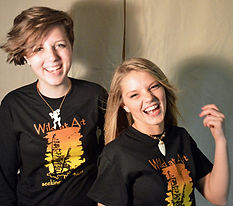 Featured Models Adia and Mickaylea in Ben Kolb Wild at Art Tees