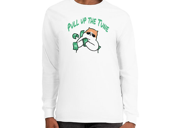"Long Sleeve ""Pull Up The Tune"" white"