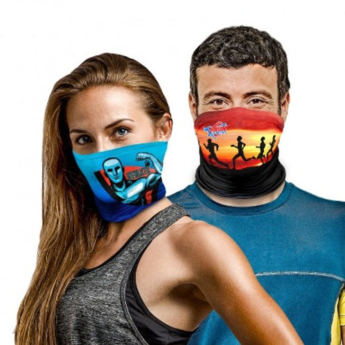 Multi Purpose Face Covering - Full Colour Logo (500 Units @ $5.57 each)