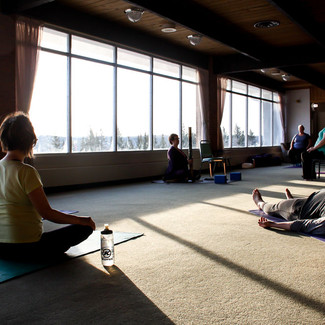 Every morning we were treated to an hour long yoga session presented by Dawn Weber!