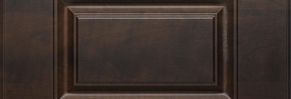 Chocolate Pear Raised Panel Closet Finish
