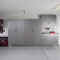 Pewter Garage with Workbench-Gridwall-Ki