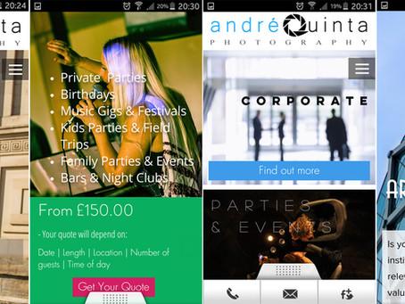 Mobile website optimized