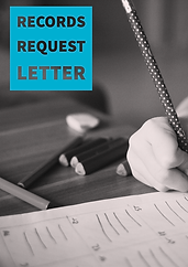 Picture of a child completing classwork that says Records Request Letter