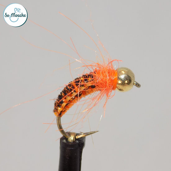 Nymphe tissée orange