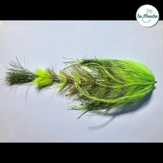 Mouche articulée chartreuse