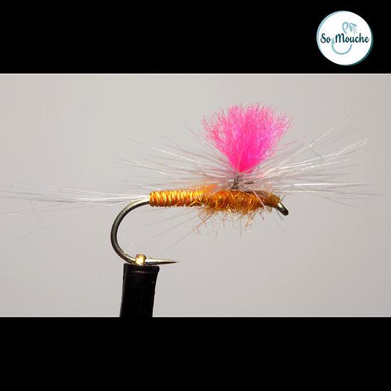 Ephémère parachute corps jaune/orange soie naturelle
