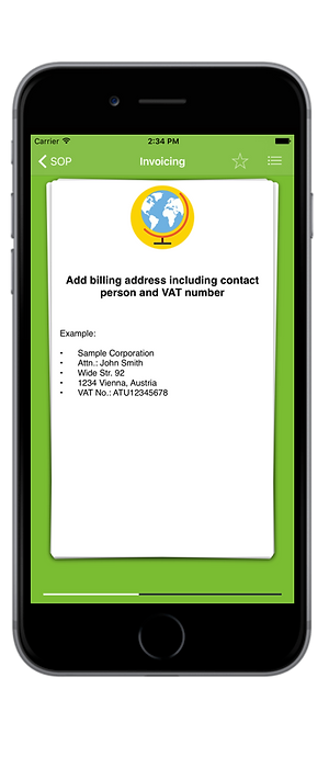 Microlearning app for business processes