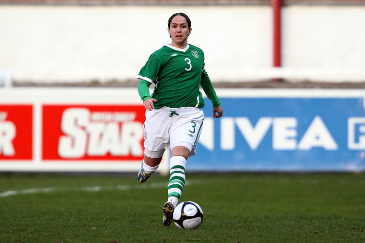 Ciara McCormack playing in an international match for the Republic of Ireland.