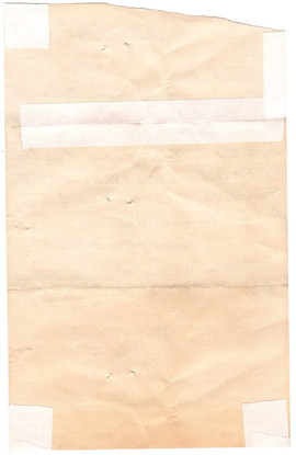 Back of Will's Letter