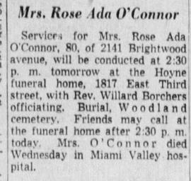 Rose Obit - The Journal Herald Oct 28, 1