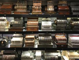 Part of Carillon Park's Cash Register Collection