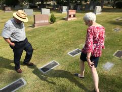 Kathy & Frank at Rose's Grave