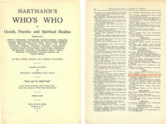Hartmann's Who's Who in Occult, Psychic and Spiritual Realms