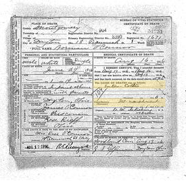 Norman O'Connor Death Certificate