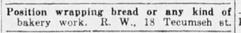 Bakery Work Ad