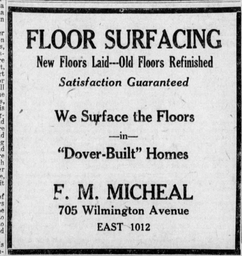 Frances Michael Flooring Business Ad