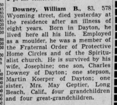 William Downey Obituary