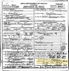 Ronald O'Connor Death Certificate