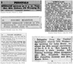 Josephine Downey's Psychic Ads