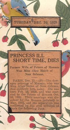 Princess of Monaco Dies