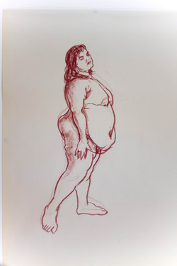 Life Drawing Study of Aviva 02