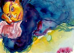 Study of Irina in Watercolor