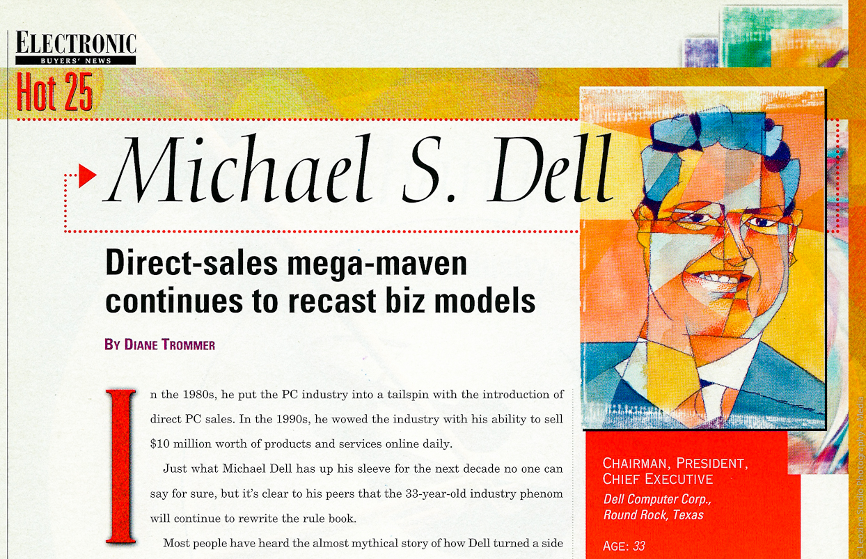 Illustration of Michael Dell