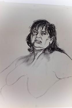 Charcoal Study Portrait of Aviva