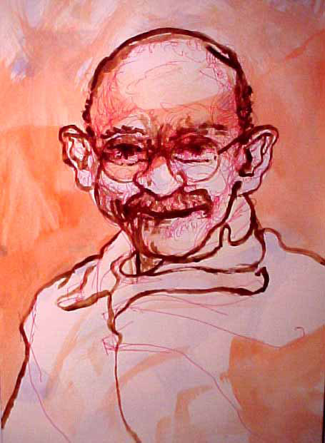 Gandhi Illustration