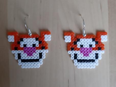 Tigerdyr-øreringe
