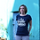 Thumbnail: Tee-shirt Femme Bio, Logo Terribles Nantaises bleu marine
