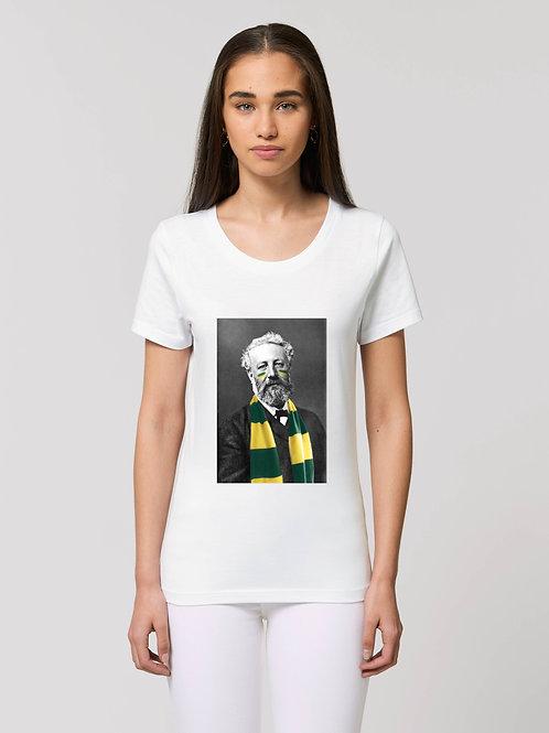 Nouveau Tee-shirt Femme Bio, Jules Verne supporteur du FC Nantes