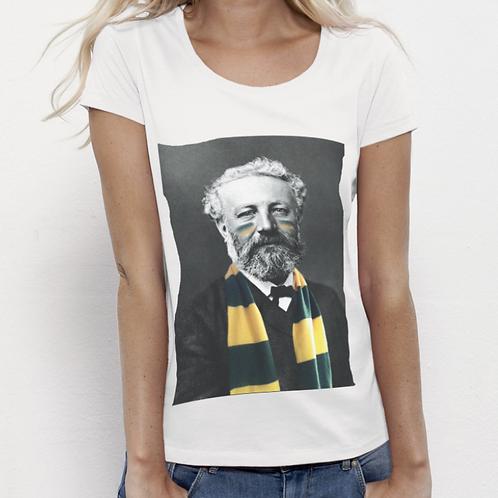 Tee-shirt Femme Bio, Jules Verne supporteur du FC Nantes