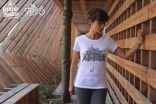 Tee-shirt Femme Bio, Terribles Nantais x The Feebles parapluie