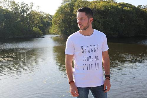 Tee-shirt Homme Bio, Terribles Nantais Beurré comme un p'tit Lu