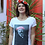 Thumbnail: Tee-shirt Femme Bio, Jules Verne couronne de fleurs