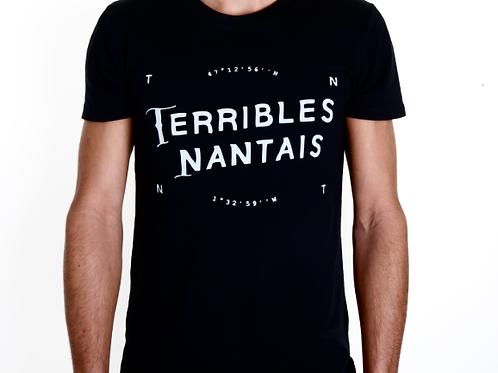 Tee-shirt Homme Bio, Logo Terribles Nantais noir