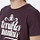 Thumbnail: Tee-shirt Homme Bio, Logo Terribles Nantais Bordeaux chiné