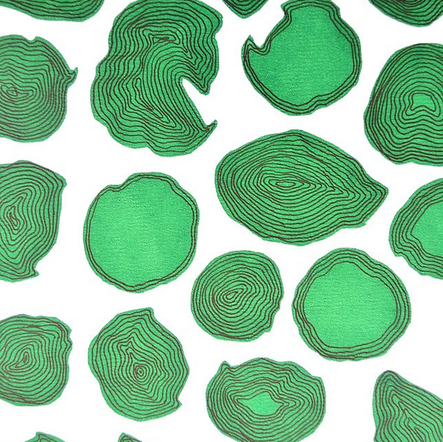 Green screen (Screen print, pen)